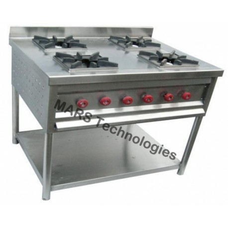 4 Burner Cooking Range With 1 Undershelf